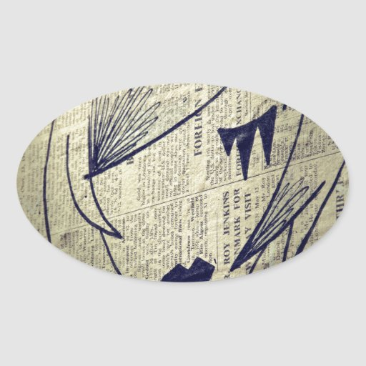 Papiermädchen Ovale Aufkleber