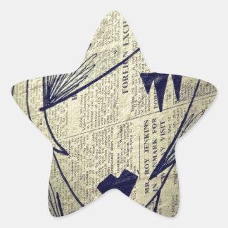 Papiermädchen Stern Aufkleber
