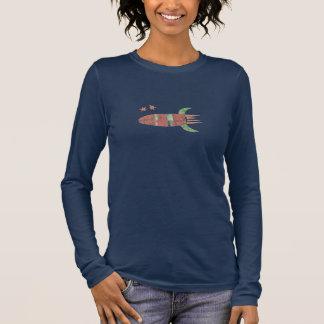 Papierrocket-Shirt Langarm T-Shirt
