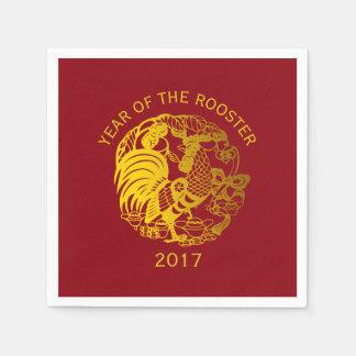Papierserviette 2017 des goldenen