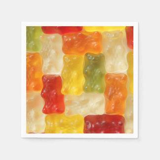 gummy bears paper napkins