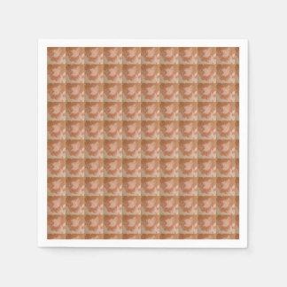 Papierservietten in einer Vintagen Art