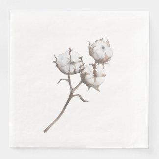 Papiertafelservietten mit Baumwollentwurf Papierserviette