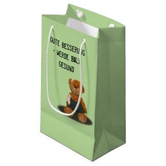 """papiertasche mit """"gute besserung"""" teddy kleine geschenktüte"""