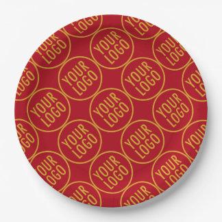 """PapierTeller 9"""" kundenspezifisches Logo förderndes"""