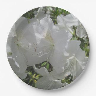 PapierTeller - weiße Azaleen
