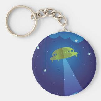 Papiertheater - UFO Schlüsselanhänger