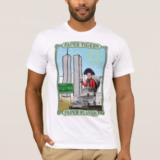 Papiertiger: PapierFlugzeuge Anti-Bush T-Stück T-Shirt