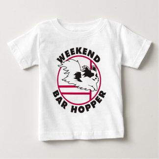 Papillon Agility-Wochenenden-Bar-Trichter Baby T-shirt