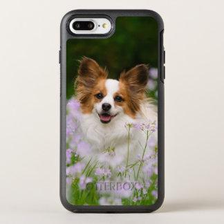 Papillon Hundeniedliches romantisches Foto auf OtterBox Symmetry iPhone 8 Plus/7 Plus Hülle