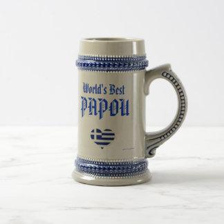 Papou Stein - das beste Papou der Welt (Grieche - Bierkrug