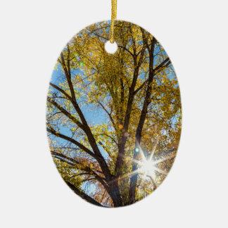 Pappel-Sonnenschein Keramik Ornament