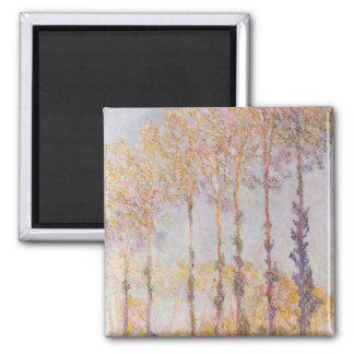 Pappeln Claude Monets | auf den Banken des Epte Quadratischer Magnet
