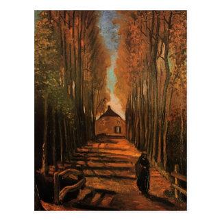 Pappeln in Herbst-Van- Goghschöner Kunst Postkarte