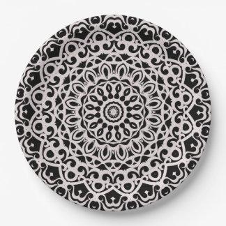 Pappteller-Stammes- Mandala G385 Pappteller