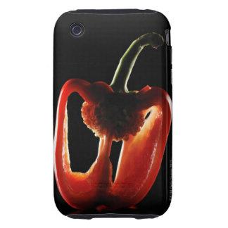 Paprika, Gemüse, schwarzer Hintergrund iPhone 3 Tough Hülle