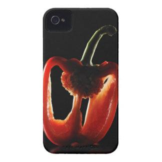Paprika, Gemüse, schwarzer Hintergrund iPhone 4 Cover