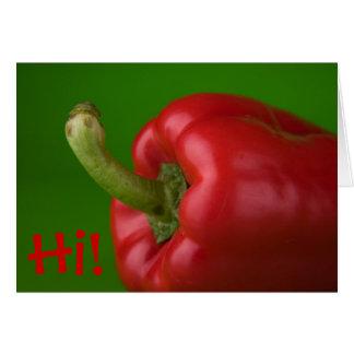 Paprika Grußkarte