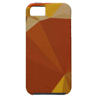 Paprika-orange Rot-abstrakter niedriger iPhone 5 Cover