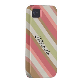 Paprika Stripes Muster Vibe iPhone 4 Cover
