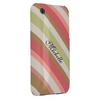 Paprika Stripes Muster iPhone 3 Case-Mate Hüllen