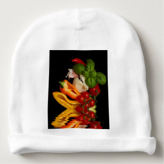 Paprikaschoten-Basilikum-Tomate-Knoblauch Babymütze