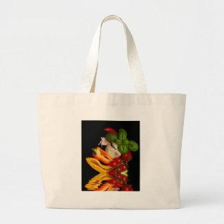 Paprikaschoten-Basilikum-Tomate-Knoblauch Jumbo Stoffbeutel