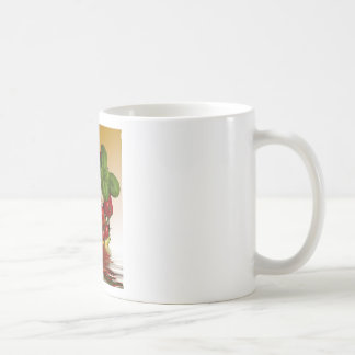 Paprikaschoten-Basilikum-Tomate-Knoblauch Kaffeetasse