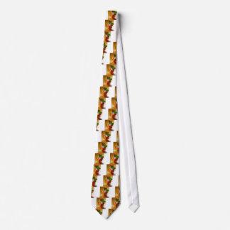 Paprikaschoten-Basilikum-Tomate-Knoblauch Krawatte