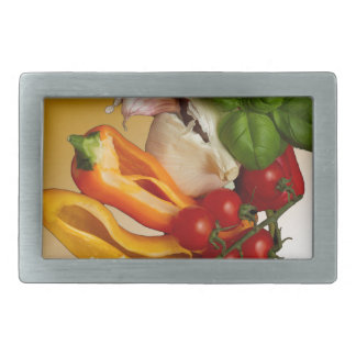 Paprikaschoten-Basilikum-Tomate-Knoblauch Rechteckige Gürtelschnalle