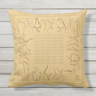 Paprikaschoten gestalten entworfenes Kissen #2