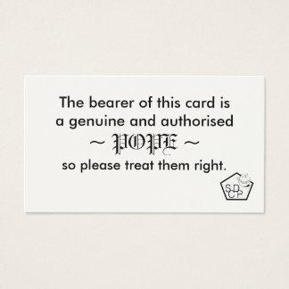 Papst Card Visitenkarte