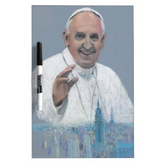 Papst Francis in Manhattan Trockenlöschtafel