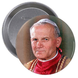 Papst Johannes Paul II Runder Button 10,2 Cm
