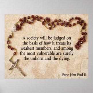 Papst Johannes Paul II. Zitat Poster
