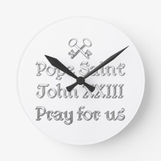 Papst Johannes XXIII beten für uns Runde Wanduhr