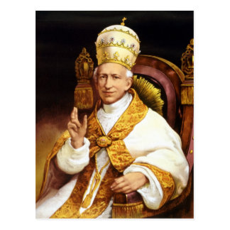 Papst Löwe XIII Postkarte