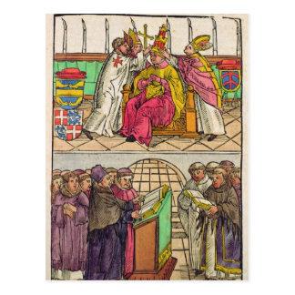 Papst Martin V ist zum Pontifikat installiert Postkarte