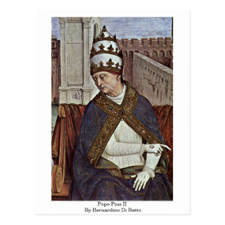 Papst Pius II durch Bernardino Di Betto Postkarte