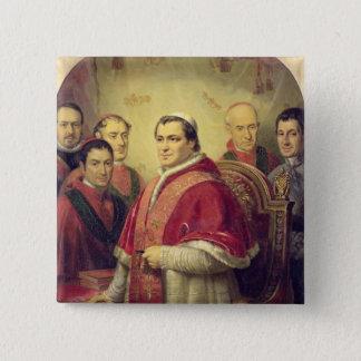 Papst Pius IX 1847 Quadratischer Button 5,1 Cm