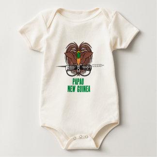 PAPUA-NEU-GUINEA - Emblem/Flagge/Wappen/Symbol Baby Strampler