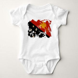 Papua-Neu-Guinea Flagge Baby Strampler