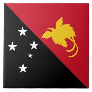 Papua-Neu-Guinea Flagge Fliese