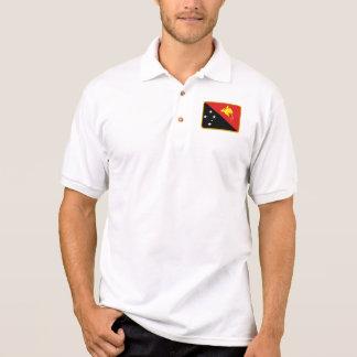 Papua-Neu-Guinea Flaggen-Golfpolo Polo Shirt
