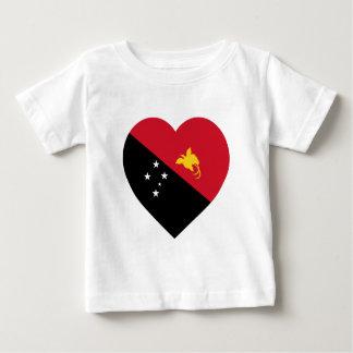 Papua-Neu-Guinea Flaggen-Herz Baby T-shirt