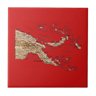 Papua-Neu-Guinea Karten-Fliese Keramikfliese