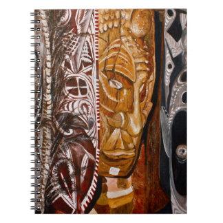 Papua-Neu-Guinea Masken Spiral Notizblock