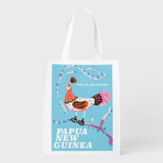 Papua-Neu-Guinea Reiseplakat Wiederverwendbare Einkaufstasche