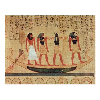 Papyrus, der einen Mann darstellt Postkarte
