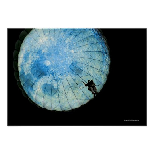 Parachute: Man in Moon Poster